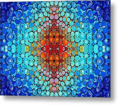 Inner Light - Abstract Art By Sharon Cummings Metal Print by Sharon Cummings
