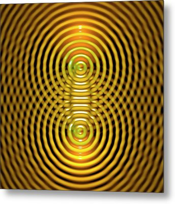 Interference Patterns Metal Print by Russell Kightley