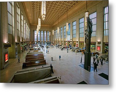 Interior View Of 30th Street Station Metal Print