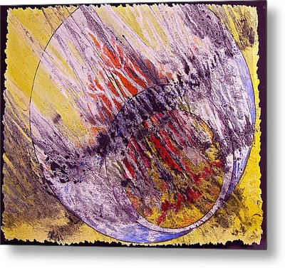 Metal Print featuring the painting Intersecting With Nature by Carolyn Rosenberger