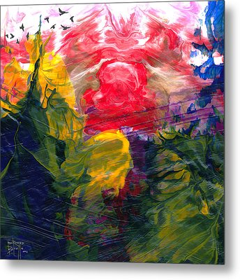 Metal Print featuring the painting Irascible by Ron Richard Baviello