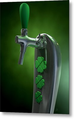 Irish Beer Tap Metal Print by Allan Swart