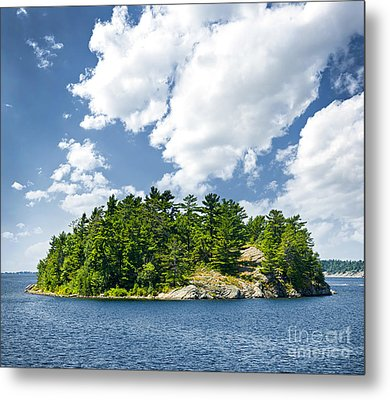 Island In Georgian Bay Metal Print by Elena Elisseeva