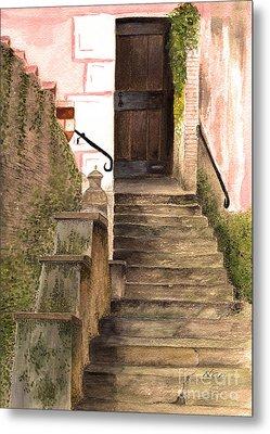 Italian Doorway Metal Print by Nan Wright