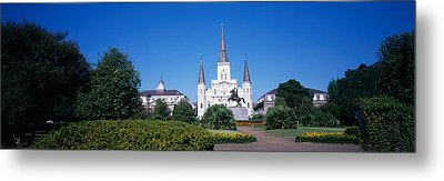 Jackson Square, New Orleans, Louisiana Metal Print by Panoramic Images