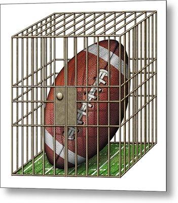 Jailed Football Metal Print by James Larkin