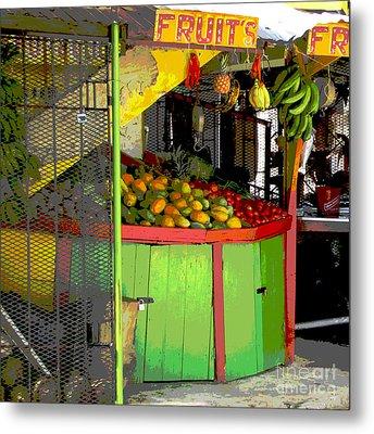 Jamaican Fruit Stand Metal Print