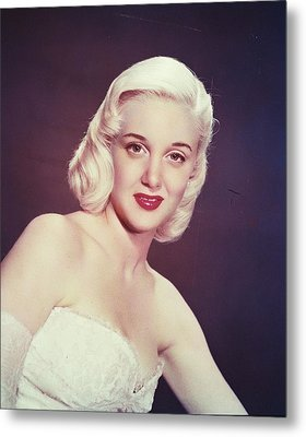 Jan Sterling Metal Print by Silver Screen