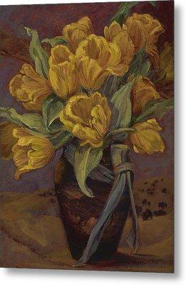 Yellow Tulips- And Buffalo Dreams Metal Print