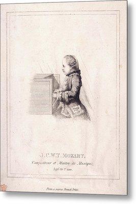 J.c.w.t. Mozart Metal Print