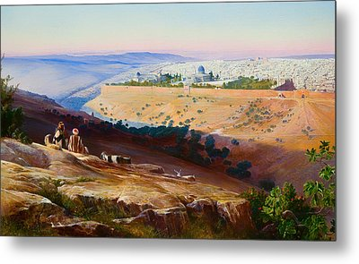 Jerusalem From The Mount Of Olives Metal Print by Mountain Dreams