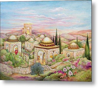 Jerusalem Landscape Metal Print by Michoel Muchnik
