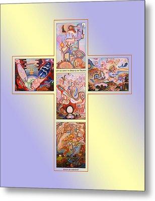 Jesus Of Advent B Y Metal Print by Aswell Rowe