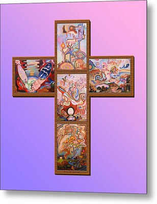 Jesus Of Advent L P M Metal Print by Aswell Rowe
