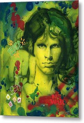 Jim Morrison Metal Print by Luis  Navarro