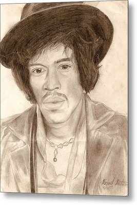 Jimi Hendrix Metal Print by Michael Mestas