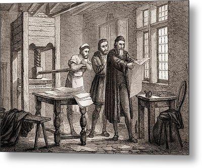 Johann Gutenberg Metal Print