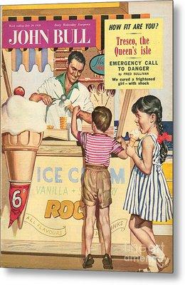 John Bull 1950s Uk Holidays Ice-cream Metal Print