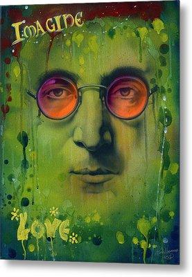 John Lennon Metal Print by Luis  Navarro