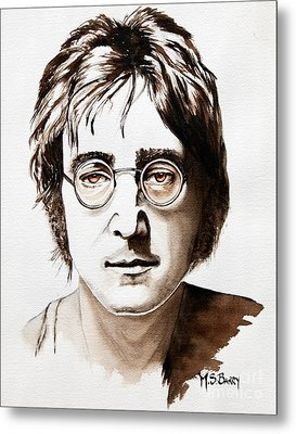 John Lennon Metal Print by Maria Barry