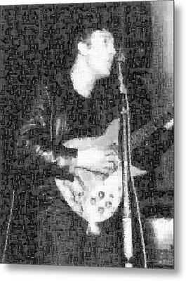 John Lennon Mosaic Image 3 Metal Print
