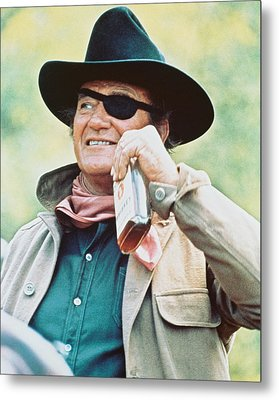 John Wayne In True Grit  Metal Print by Silver Screen