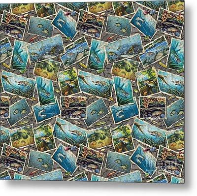 Jon Q Wright Fish Paintings Bedding Metal Print by Jon Q Wright