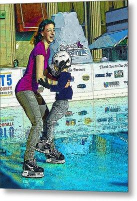 Joy On Ice Metal Print by Alice Ramirez