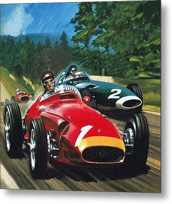 Juan Manuel Fangio Metal Print by Wilf Hardy