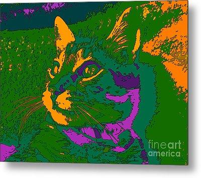 Metal Print featuring the digital art Jungle Cat by Hanza Turgul