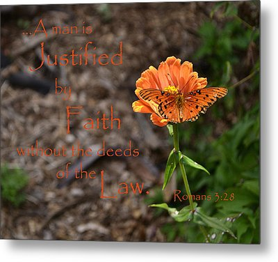Justified By Faith Metal Print by Larry Bishop