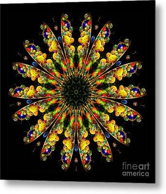 Kaleidoscope Of Blown Glass Metal Print by Amy Cicconi