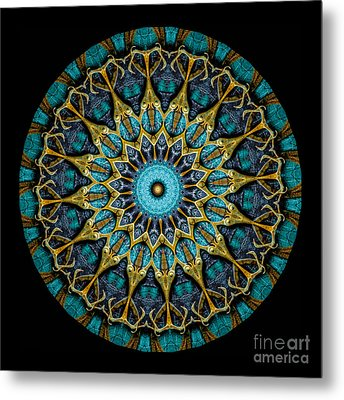 Kaleidoscope Steampunk Series Metal Print by Amy Cicconi