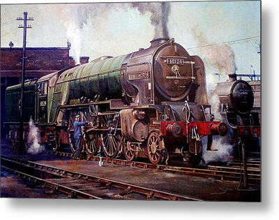 Kenilworth On Shed. Metal Print by Mike  Jeffries