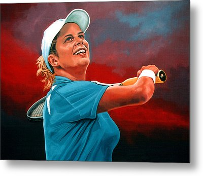 Kim Clijsters Metal Print