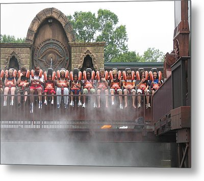 Kings Dominion - 121210 Metal Print by DC Photographer