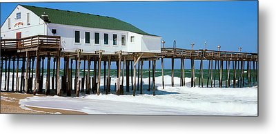 Kitty Hawk Pier On The Beach, Kitty Metal Print by Panoramic Images