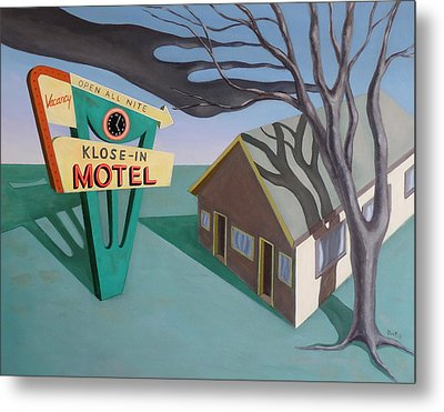 Metal Print featuring the painting Klose-in Motel by Sally Banfill