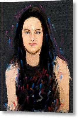 Kristen Stewart Metal Print by Bogdan Floridana Oana