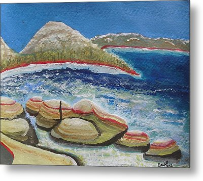 Kudos To Kondos At The Lake Metal Print by Carol Duarte