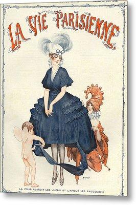 La Vie Parisienne 1916 1910s France Metal Print by The Advertising Archives