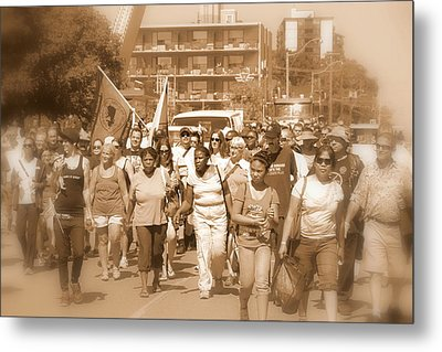 Labor Day Parade Metal Print by Valentino Visentini