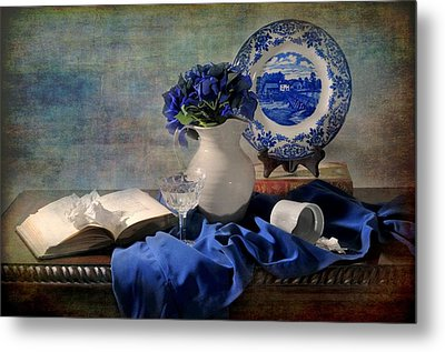 Lady's Got The Blues Metal Print by Diana Angstadt