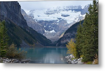 Lake Louise In Fall Metal Print