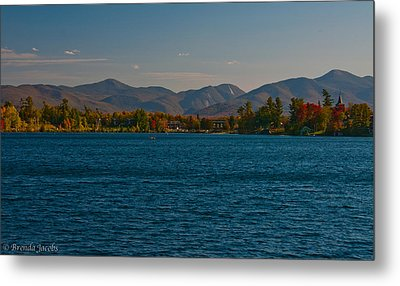 Lake Placid And The Adirondack Mountain Range Metal Print by Brenda Jacobs