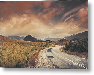 Lake Plimsoll Road. Tasmanian Landscape Metal Print by Jorgo Photography - Wall Art Gallery