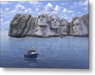 Lake Rushmore - Special Metal Print by Mike McGlothlen
