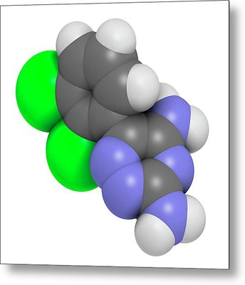 Lamotrigine Seizures Drug Molecule Metal Print