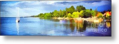 Landscape Of The Balaton Lake Metal Print by Odon Czintos