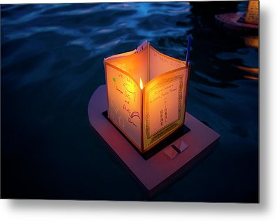 Lantern Floating Festival, Memorial Metal Print